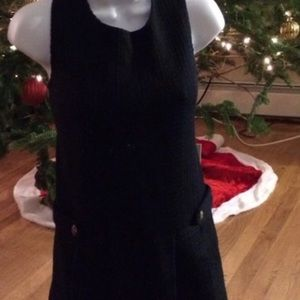 Dresses & Skirts - BLACK PLEATED SCHOOL GIRL SWEATER DRESS